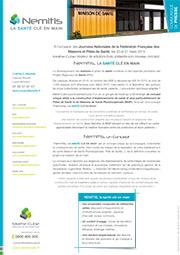 Communiqué de presse Nemitis à l'occasion des Journées Nationales de la Fédératoin Française des Maisons et Pôles de Santé (ffmps)