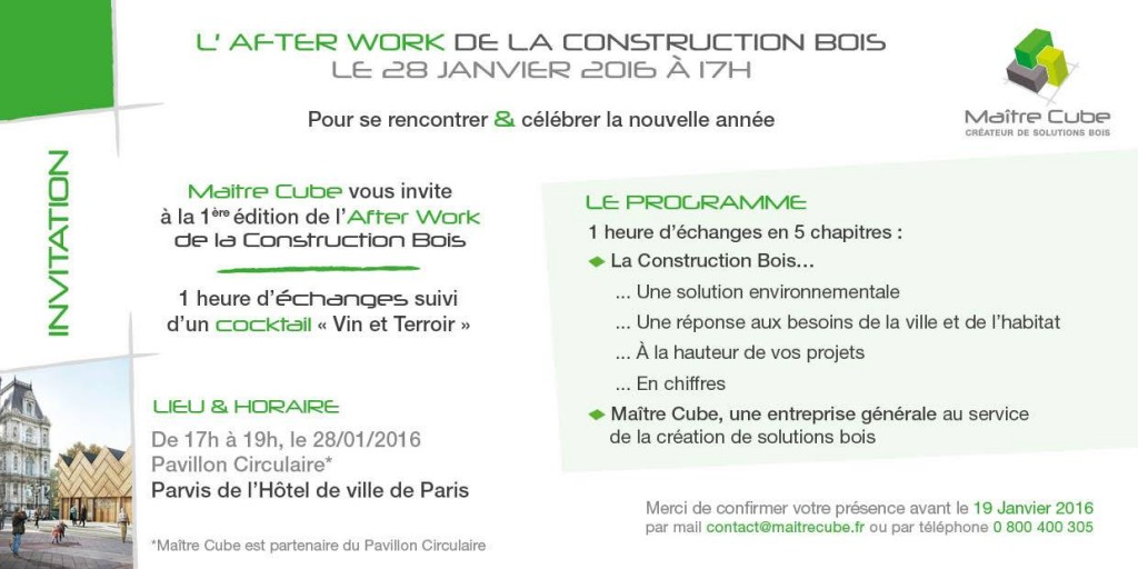 After Work de la construction bois