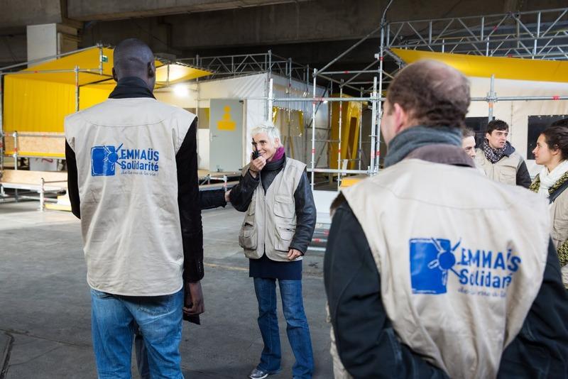 centre d'accueil de réfugiés avant ouverture